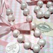 "Gumball Necklace Couture Pearls ""edible"", These Shabby Chic's are Great for Party Favors for Birthdays, Baby Showers, Bachelorette Parties"